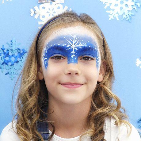 """Malowanie twarzy inspirowane """"Krainą lodu"""" – Elsy"""