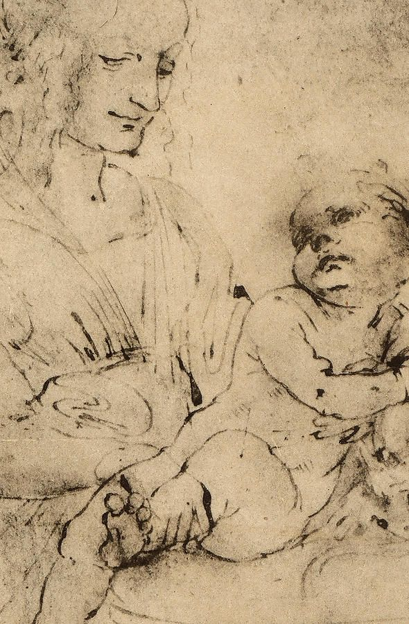 michelangelo drawing madonna and child 1525 - 590×900