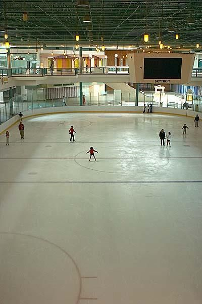 Ice skating at the Mall of Memphis