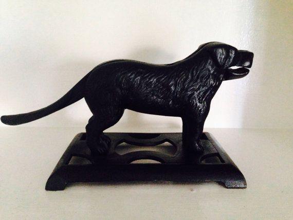 Bradley & Hubbard Cast Iron Black Labrador Dog, Nut Cracker # 24 H, EUC