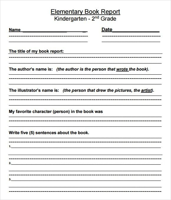 10 Book Report Templates Book Report Templates Book Report