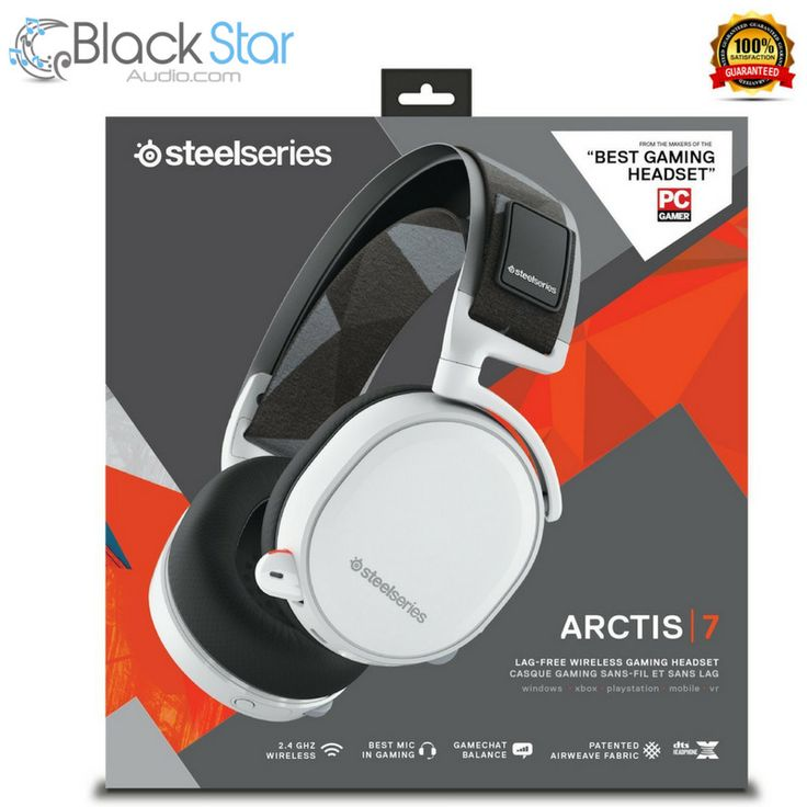 SteelSeries Arctis 7, Gaming Headset, Wireless, DTS 7.1 Surround for PC, (PC / M #SteelSeries