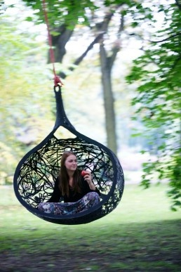 MANU NEST hanging chair made by Latvian designer Raimonds Cirulis. PURCHASE MANU NEST ON TRUE LATVIA STORE http://truelatvia.lv/en/true-designers/raimonds-cirulis // Best Furniture, Product and Room Designs of May 2013 | DigsDigs