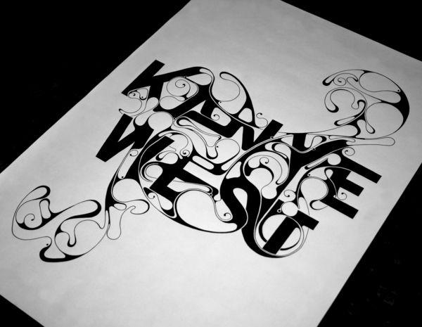 Kanye West. on Typography Served