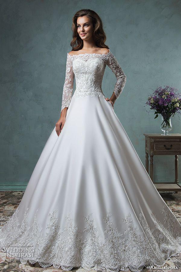 Свадебные пышные платья для высоких