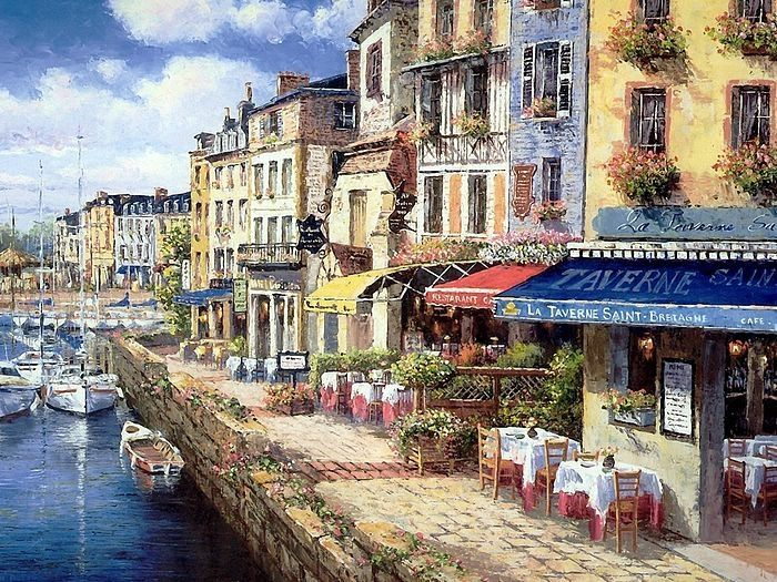 Cassis, France Cafe ~ Sung Sam Park