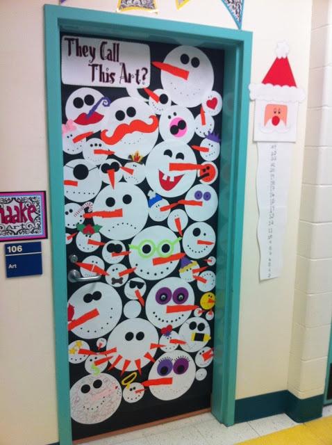 Apex Elementary Art (Door display in winter?)