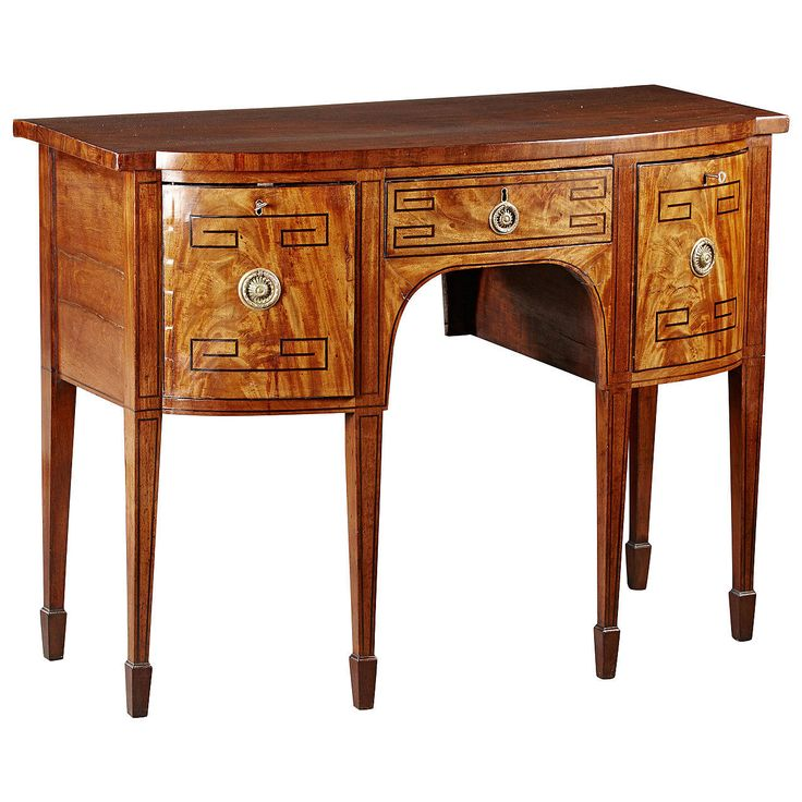 Fine and Unusual English Regency Period Mahogany Sideboard with Inlay   From a unique collection of antique and modern sideboards at https://www.1stdibs.com/furniture/storage-case-pieces/sideboards/