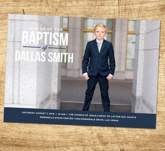 Lds baptism invitation, modern baptism invitation, printable baptism…