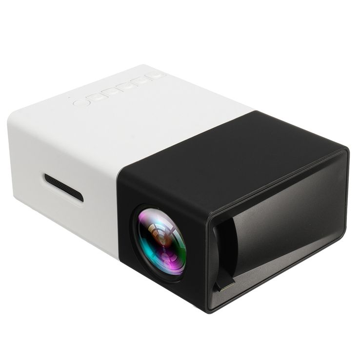 YG300 Ultra Mini Portable HD 1080P LED AV SD USB Projector Home Theater for Cell Phone