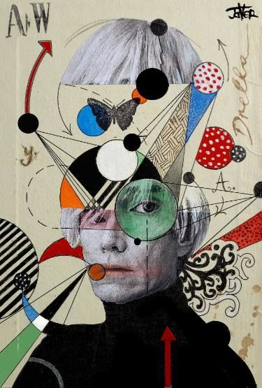 "Saatchi Art Artist Loui Jover; Collage, ""anti pop andy"" #art"