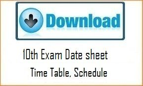 MP Board 10th Time Table 2017, Download MPBSE HSC Exam Date Sheet 2017 PDF