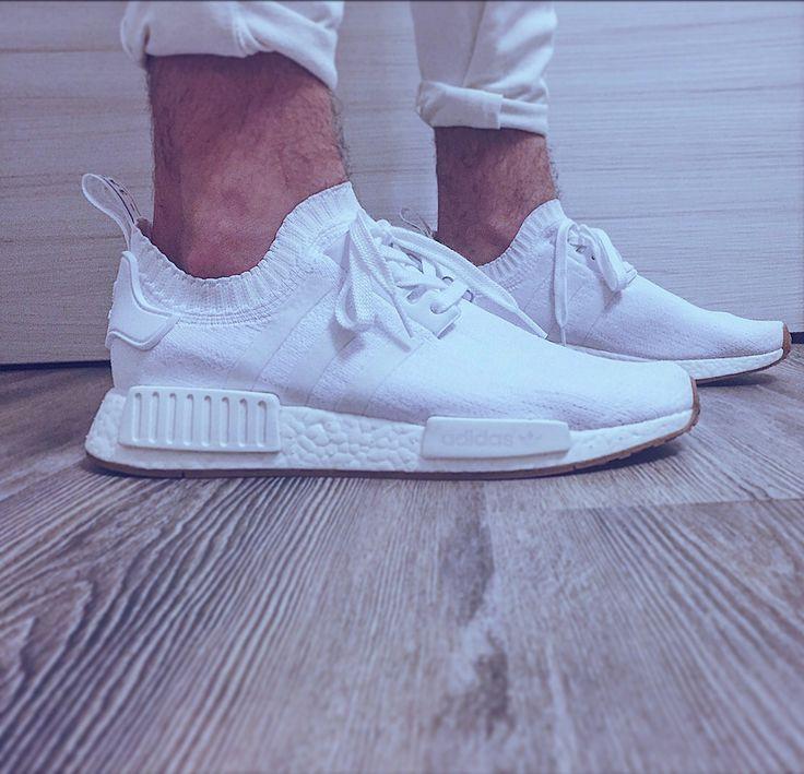 New Adidas NMD_R1 PK White