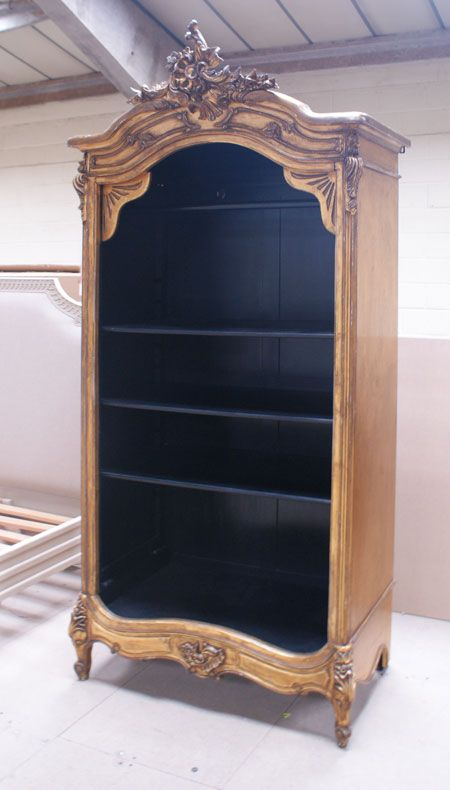 Versailles gold gilt french Open Armoire