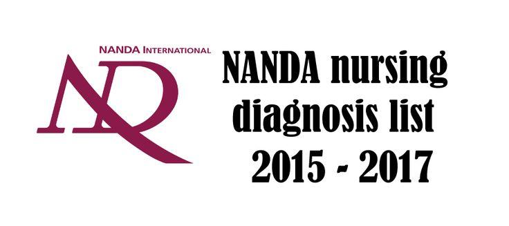 NANDA nursing diagnosis list 2015-2017
