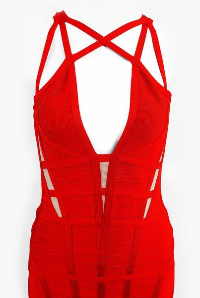 Strappy Cage Bandage Dress | Jumptimes