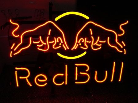 """RED BUL ENERGY DRINKS Neon Sign 18"""" x 12"""" FREE Shipping Worldwide"""