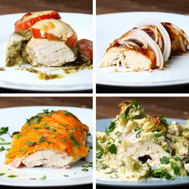 Chicken Bake Four Ways