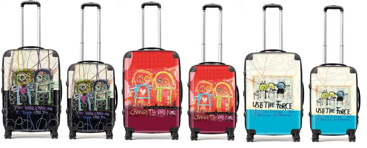 Family suitcases
