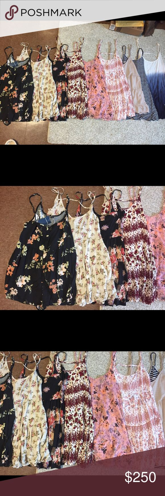 OFFERS: All for sale!! All are Brandy Melville, all are jada dresses except #1, #5, #8. The first is the only romper! All are for sale!! Looking for offers on all! Listed price is for all 9. Or $200 on (m)ercari Brandy Melville Dresses Mini