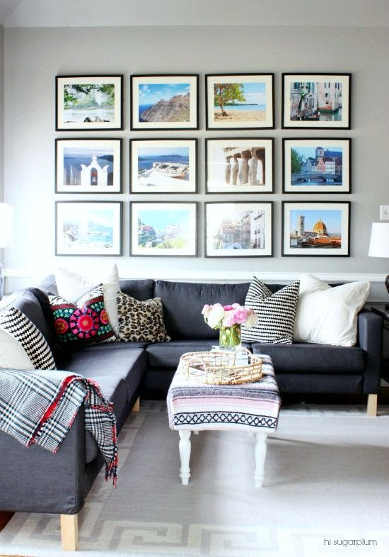 Delightful Family Room Art Ideas Part - 14: Line It Up: A Modern Tweak To The Ubiquitous Gallery Wall