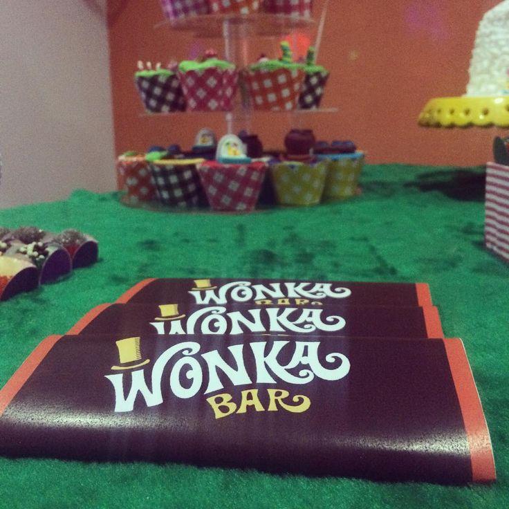 Barra de chocolate com embalagem (feita em casa) Wonka Bar
