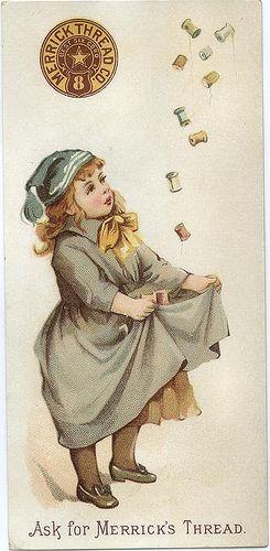 Vintage Trade Card - Merrick's Thread Co