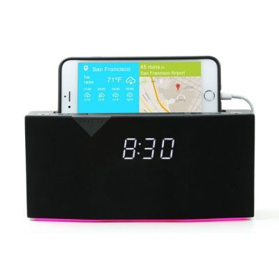 Beddi is a smart alarm clock that you can control with an app from the iTunes or Google Play stores.  Beddi connects to your smart phone via Bluetooth and accesses your Spotify and Uber history to understand your preferences for music and any Uber travel. PRODUCT CODE: beddi-clock AVAILABILITY: In Stock $157.00  Ex Tax: $143.00  http://www.shopprice.com.au/beddi+smart+alarm+clock