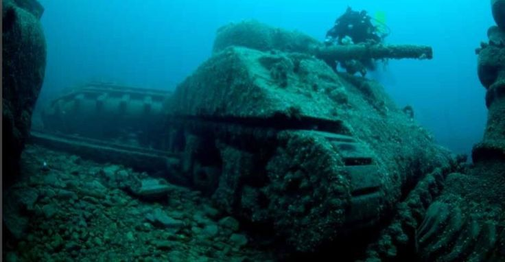 WWII Sherman Tank on The Seabed off Donegal, Ireland