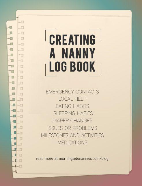 Creating a Nanny Log Book