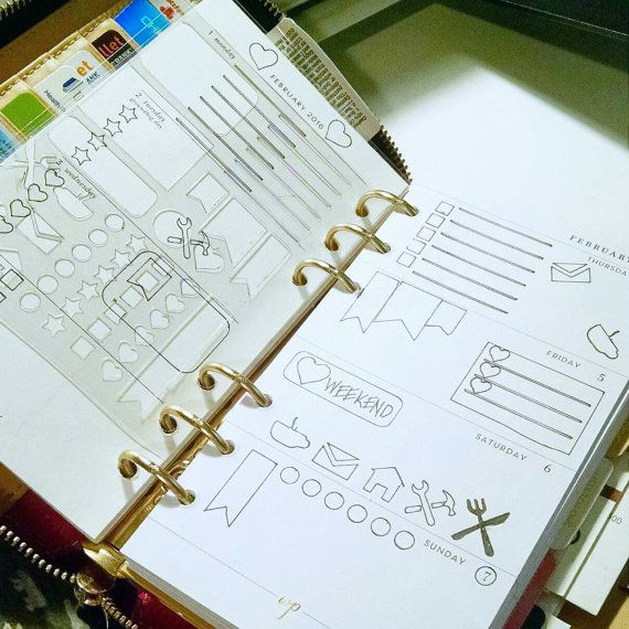 PLANNER STENCIL / Bullet Journal Stencil by EclecticallyEmily