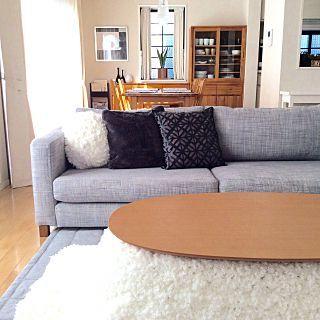 無印こたつ布団のインテリア実例   RoomClip (ルームクリップ) Lounge/ダイニング/unico/エコカラット/こたつ/シンプルライフ/こたつ部