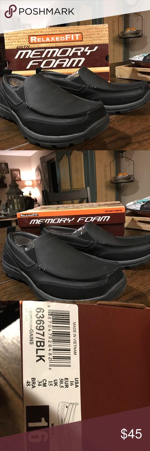 Men's Skechers Shoes Brand New, never worn. Black, men's size 16 Skechers Shoes Flats & Loafers
