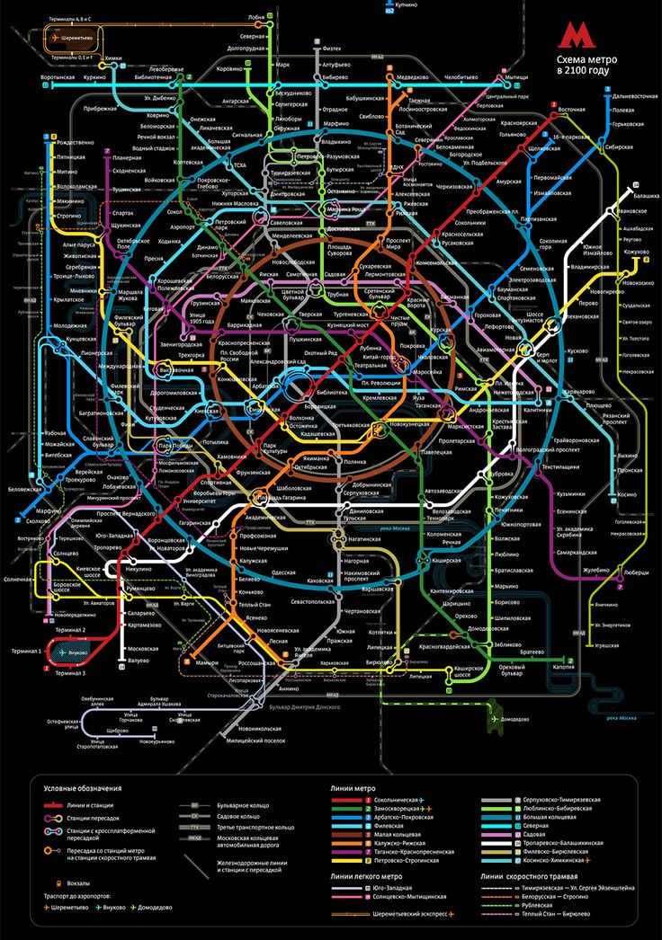 Moscow Metro map 2011. I love these.