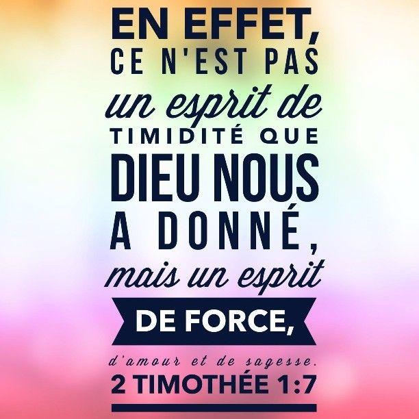 #amour #force #sagesse c'est ce que Dieu a pour toi. #laBible #versetdujour