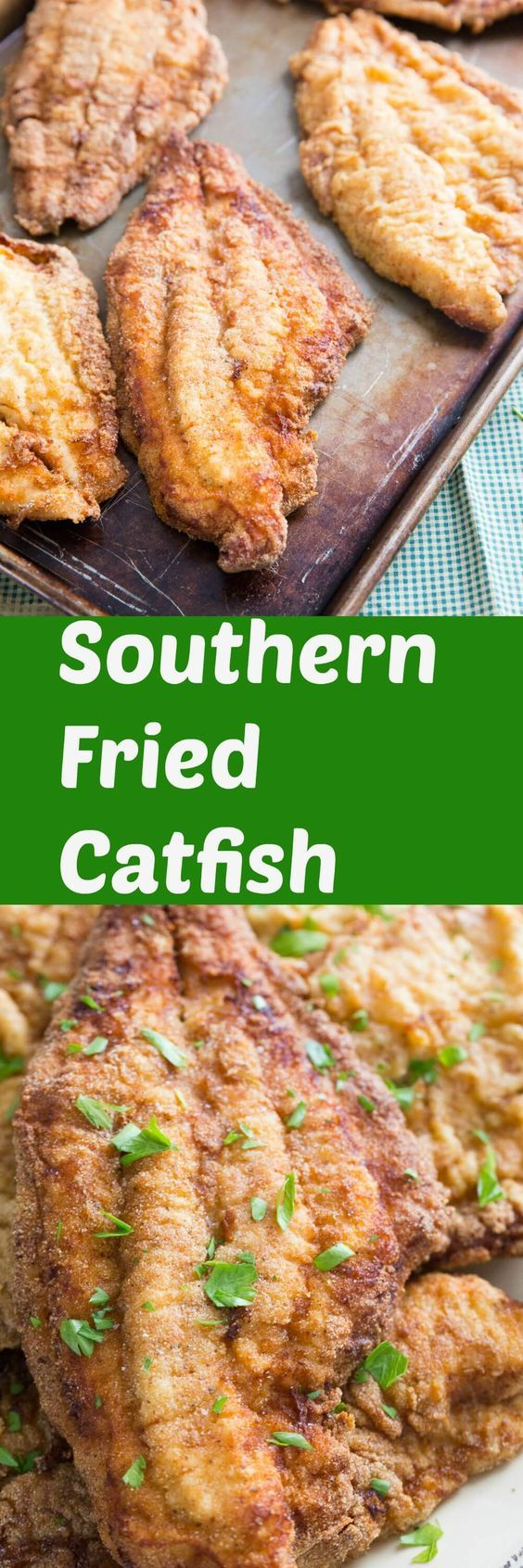 Who loves fried catfish?  This southern fried catfish recipe meets all the requirements of a good catfish recipe!  It is breaded for crispiness and has just the right amount of seasoning!  You are going to love it! via @Lemonsforlulu