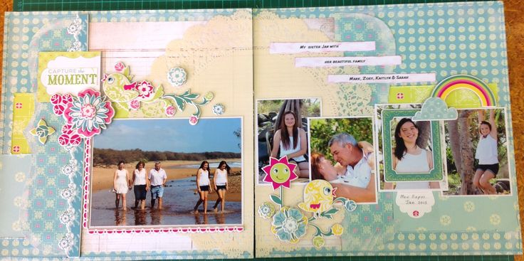 Double page layout of my sister and her family, using a kit from Daisy's in Nambour.