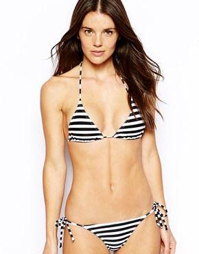 Image 4 ofASOS Mix & Match Stripe Micro Triangle Bikini Top