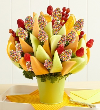 I have always dreamt of getting one of these.. yum! Easter Delight Fruit Bouquet-