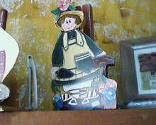 porta rollo de mesa, frente pintura en acrilico, www.facebook.com/pages/An-Ver/582001688513051