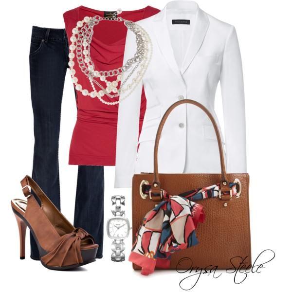 Vivienne Westwood top, PIAZZA SEMPIONE White Blazer, Hudson jeans, JustFab high heels, Dkny Handbag, watch