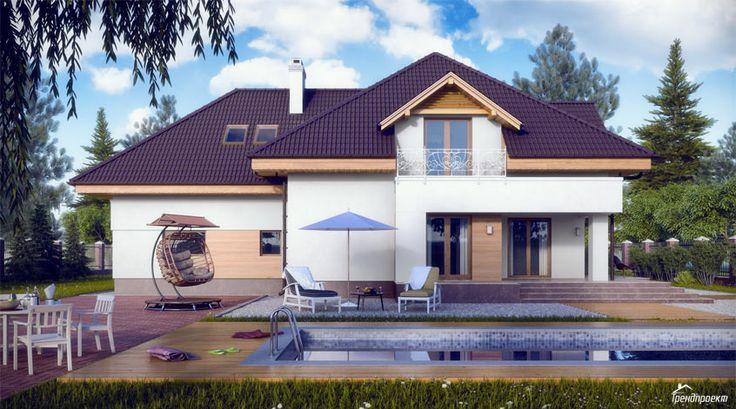 Тренд-205 Проект дома с многоскатной крышей