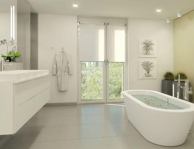 Bildergebnis für bad bodentiefe fenster | Badezimmer ...