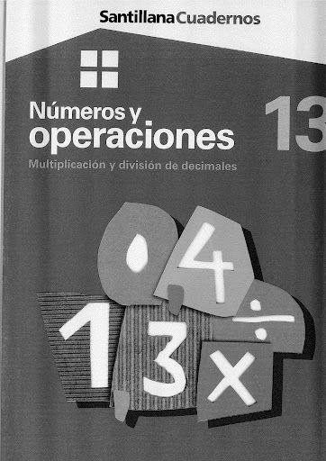 Números y operaciones 13 - Multiplicación y división de decimales