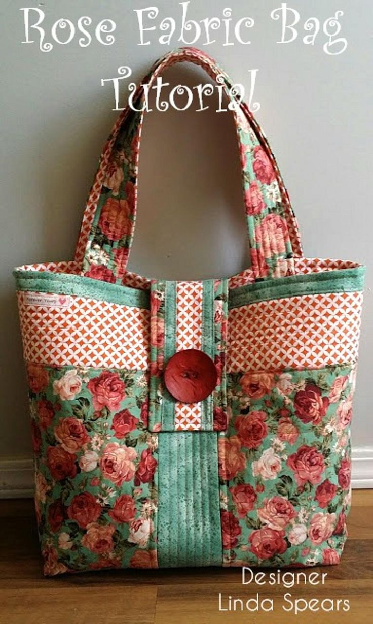 Rose Fabric Bag Tutorial | Craftsy  Easy Sew!
