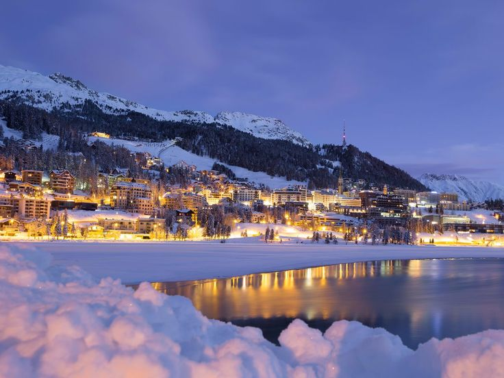 Besides its snowy slopes, St. Moritz is also home to an outdoor Olympic ice rink and a world championship bobsled run constructed from natural ice. It's the Swiss equivalent of Aspen or Vail.