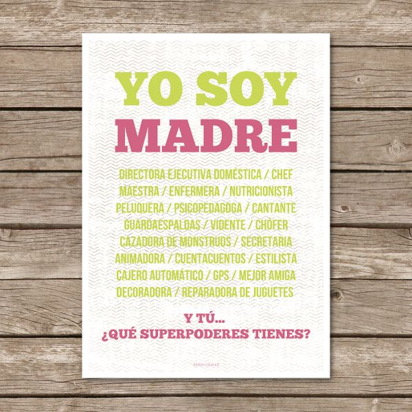 "Lámina ""Yo Soy Madre..."" / saraillamas SHOP"