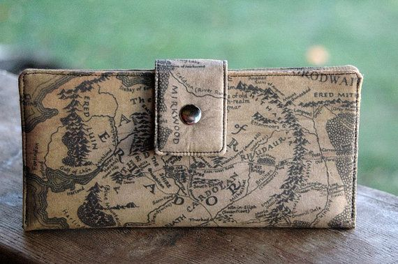Womens clutch Wallet handmade custom clutch in lord of the rings middle earth