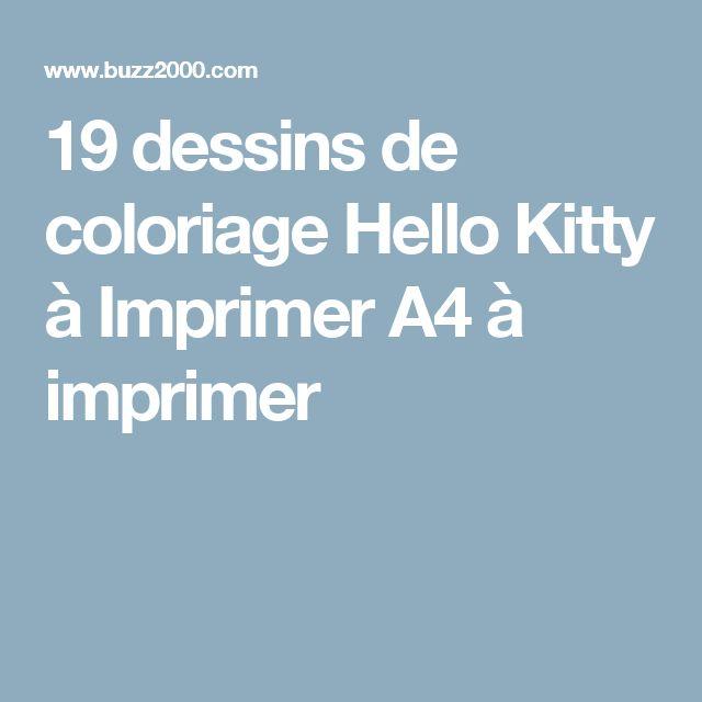19 dessins de coloriage Hello Kitty à Imprimer A4 à imprimer