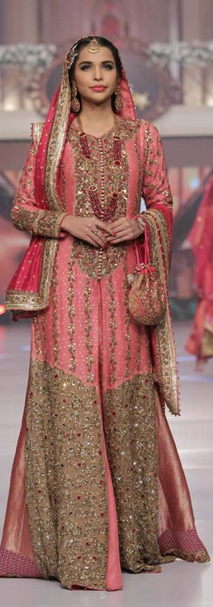 Latest Asian Bridal Wedding Gowns Collection 2016-2017 (17)